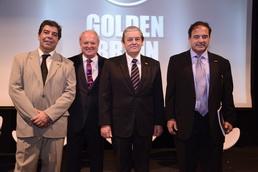 Daniel Castaldo (Gerente Gral Atacama), Juan Gujis, Enrique Robino y Gustavo Brizuela (Secretario y Presidente de la Fundación Golden Brain Atacama)